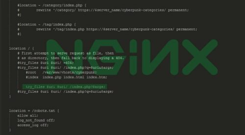 NGINX Rewrite Rules for Pretty URLs
