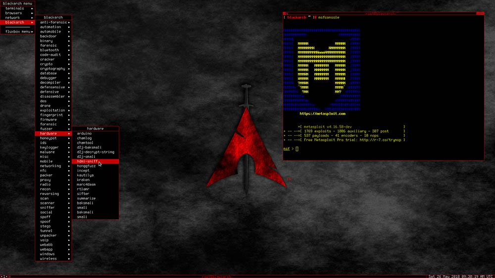 BlackArch Linux fluxbox