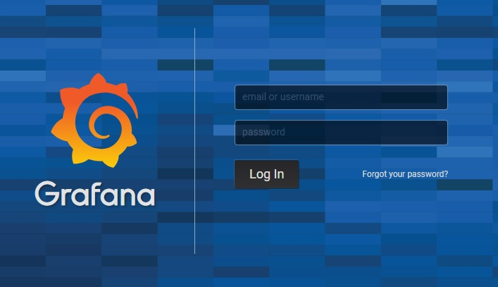 System monitoring with grafana Log in