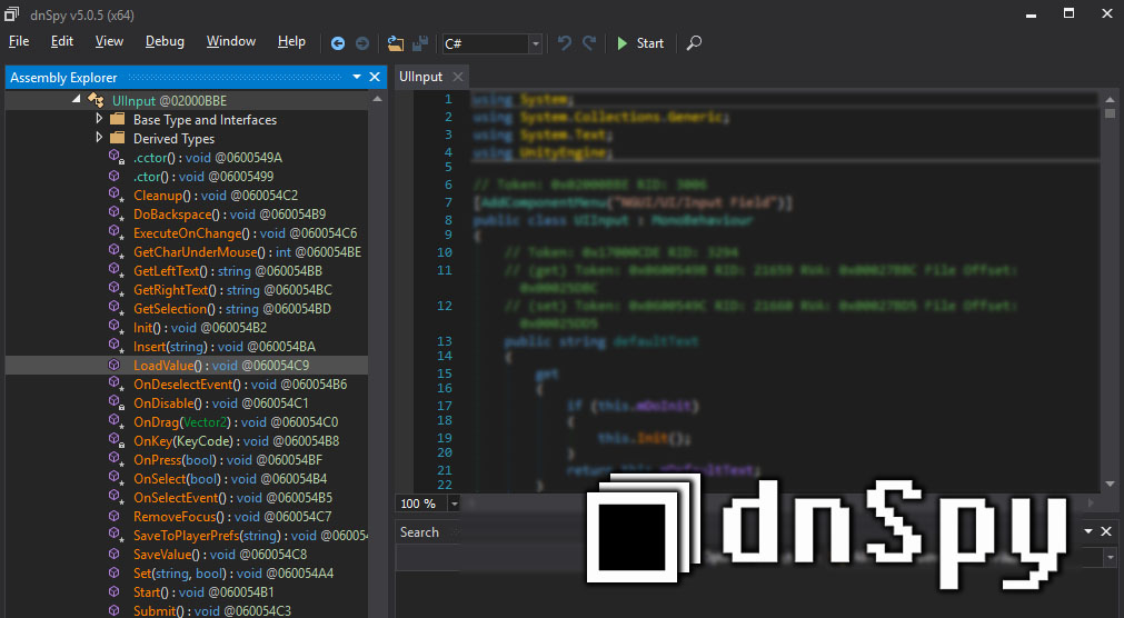 .NET Debugger and Assembly Editor – dnSpy