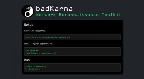 badKarma: Network Reconnaissance Toolkit