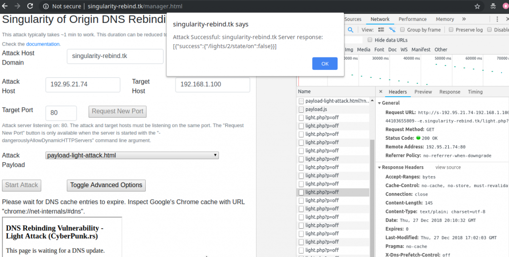 DNS Rebinding Manager