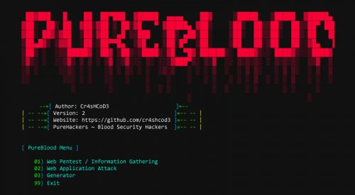 Penetration Testing Framework – Pure Blood [v2.0]