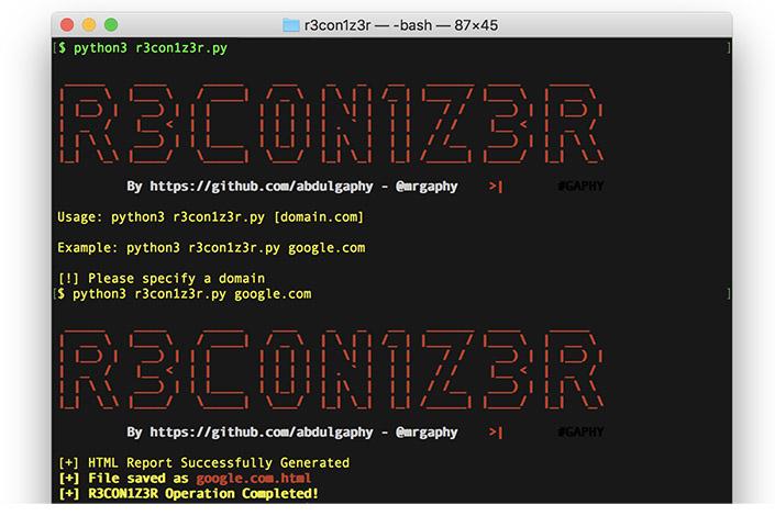 R3con1z3r usage example